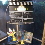 Disney collectibles and my Beast photo by the clapboard sign