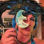 My custom edible mask to match my costume broke before I could model it! Waah!