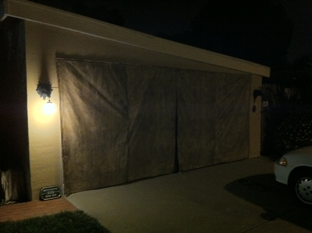 Garage Door Curtain