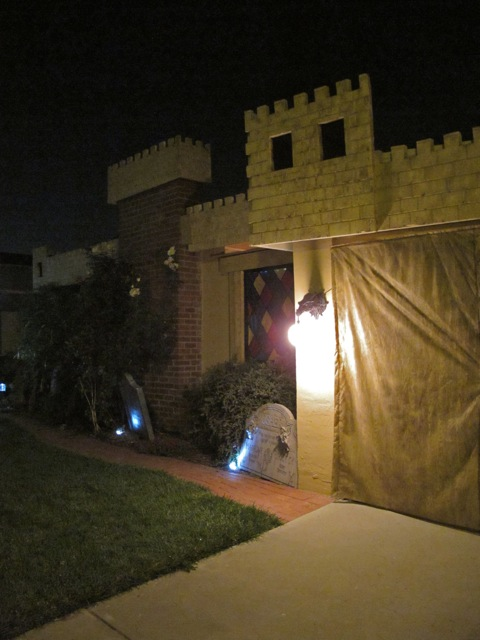 Castle Brittahytta at Night
