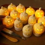 Mini Fondant Jack O'Lanterns