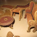 """Carved"" Piping Detail on the Gingerbread Furniture"