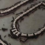 Candy Bones on Black Chocolate Window Trim