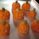 Painting the Flickering Fondant Pumpkins