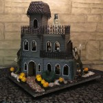 Ghoulish Gingerbread Haunted House Front Full View (7 clues visible)