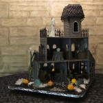 Ghoulish Gingerbread Haunted House Back Full View