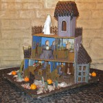 Ghoulish Gingerbread Haunted House Back Full View (9 clues visible)