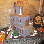 Ghoulish Gingerbread Haunted House with Fog