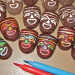Coloring Chocolate Masks