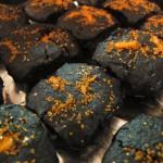 closeup of Brownie Briquettes