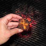 Brownie Briquette over real glowing coals