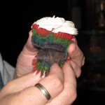 Inside a Rainbow Velvet Cupcake
