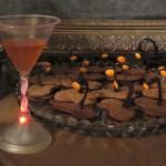 Closeup cocktail & s'mores