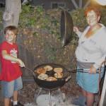 Kian & Lori Grilling Pizzas