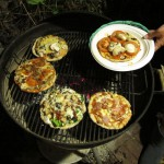 Flying Saucer Pizzas on the Grill