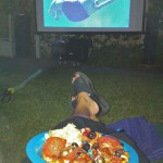 Dinner & a movie (well trailers first - this was Hotel Transylvania)