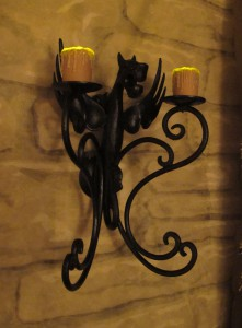 New Dragon Sconces with New Faux Flames (unpainted)