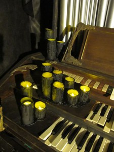 Finished Faux Flames Flickering on the Haunted Pipe Organ