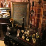 The Library Laboratory - Can you spot the ghost drinking & laughing inside the bottle on the books?