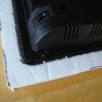 Electronics nesting inside the foam frame
