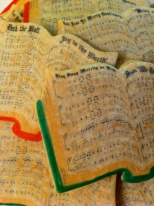 Caroling Cookies Closeup