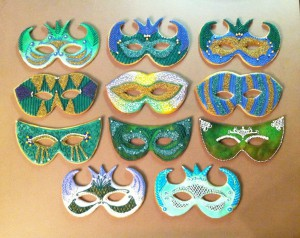 Edible Mask Examples Before Pretzel Handles