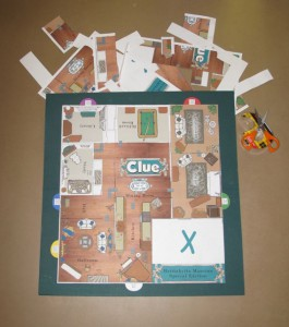 Custom Clue Game Board 2013