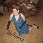 Mrs. Peacock posing in the Ballroom