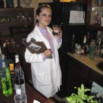 Professor Plum experimenting with arsenic in the Lounge bar