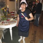 Tina posed perfectly in her costume as the Cook from the Clue movie!