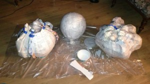 Papier-mache progress
