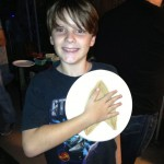 Kian modeled his unbaked Starfleetza as his commbadge :)