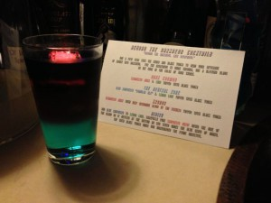 Nibiru Grande with the Beyond the Darkness Cocktail Recipe Card