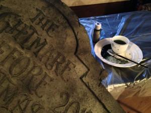 Nightmare Gravestone Handpainting in Process