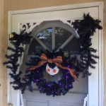 Scary Door Wreath Reaching For You!