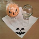 Jack O Lantern Cheese Balls using Fun Foam Faces
