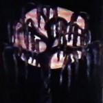 Spooky Tree in Chalk on Black Paper