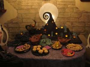 Edible Spiral Hill Centerpiece