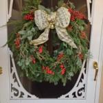 Fresh front door wreath