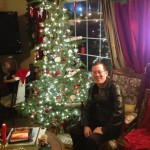 Kevin wanted a photo by my tree