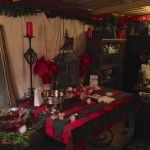 It was even too chilly for the covered patio but people braved it for the mulled wine and meatballs