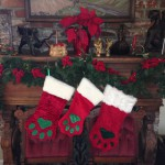 Kitty Paw Stockings on the Mantel