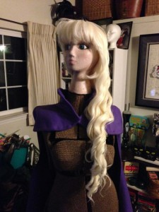 Platinum Blonde Wig Before Styling