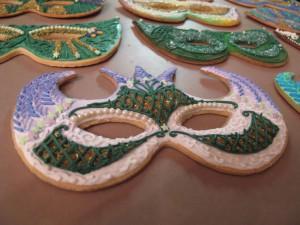 Mardi Gras Mask Cookies 2011