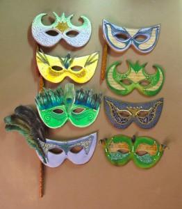 Mardi Gras Mask Cookies 2012