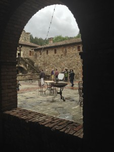 History Channel crew interviewing the castle owner
