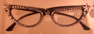 Vintage cateye glasses with extra rhinestones
