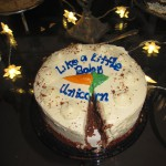 "Debi's carrot cake ""Like a Little Baby Unicorn""...very clever!"