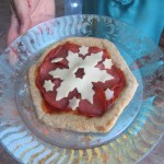 Elsa's Snowflake Pizza before grilling
