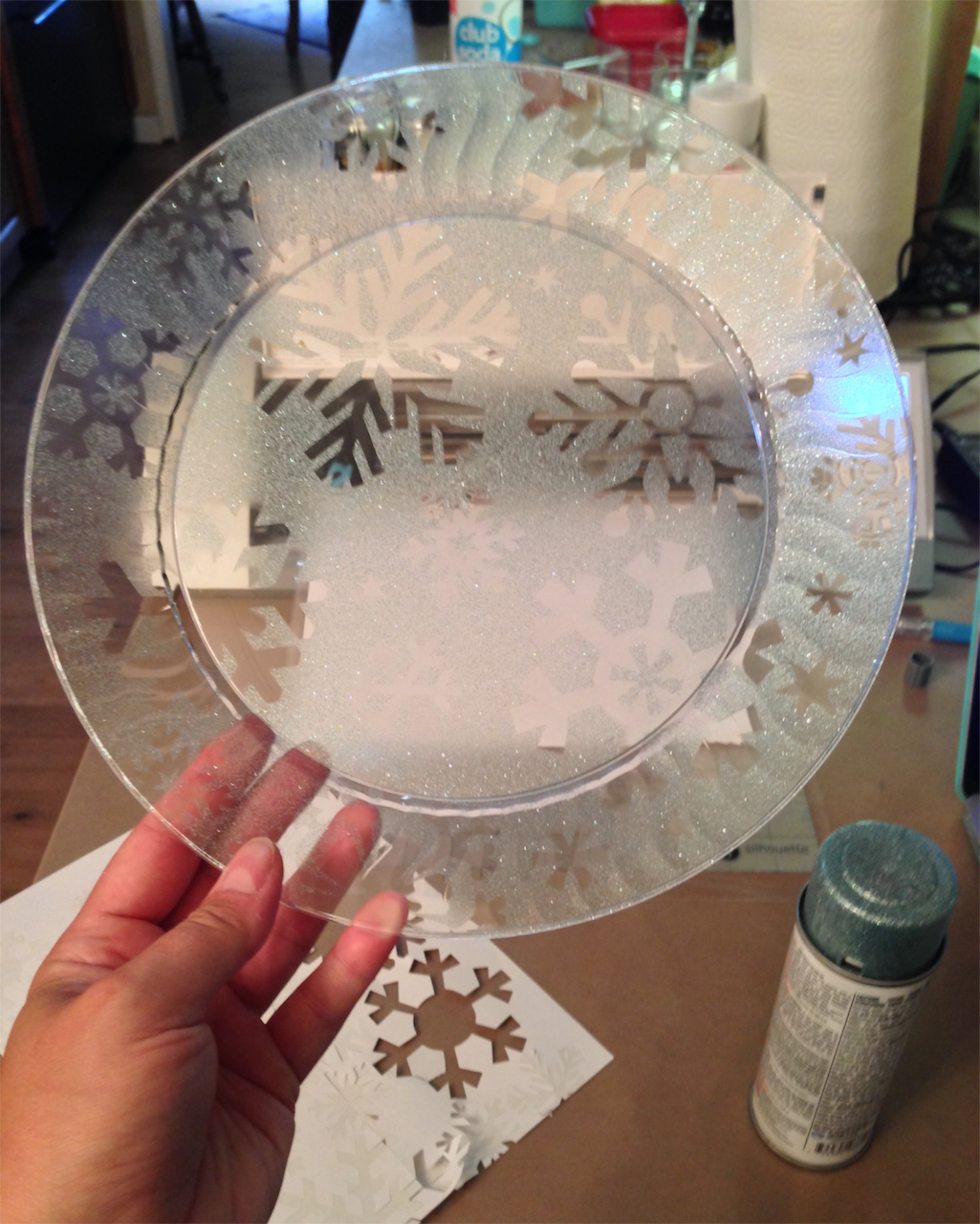 ... Finished Icy Snowflake Plate paper ... & Fashioning Food u0026 Festivities for Frozen | Britta Blvd